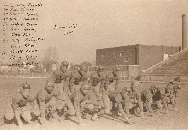 The 1941 Sumner High football team practiced at the Parkersburg High School