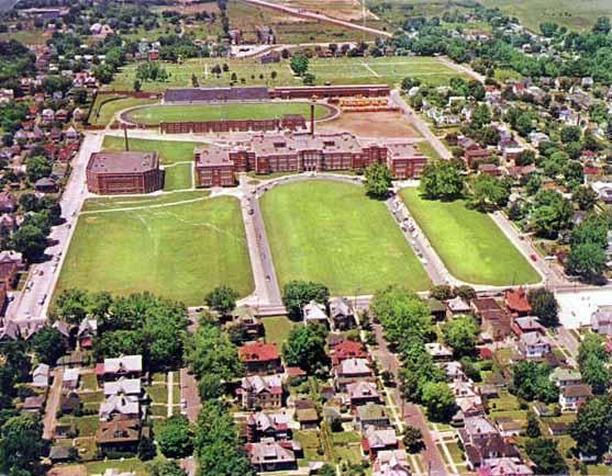 parkersburg  west virginia  parkersburg high school and stadium  photo